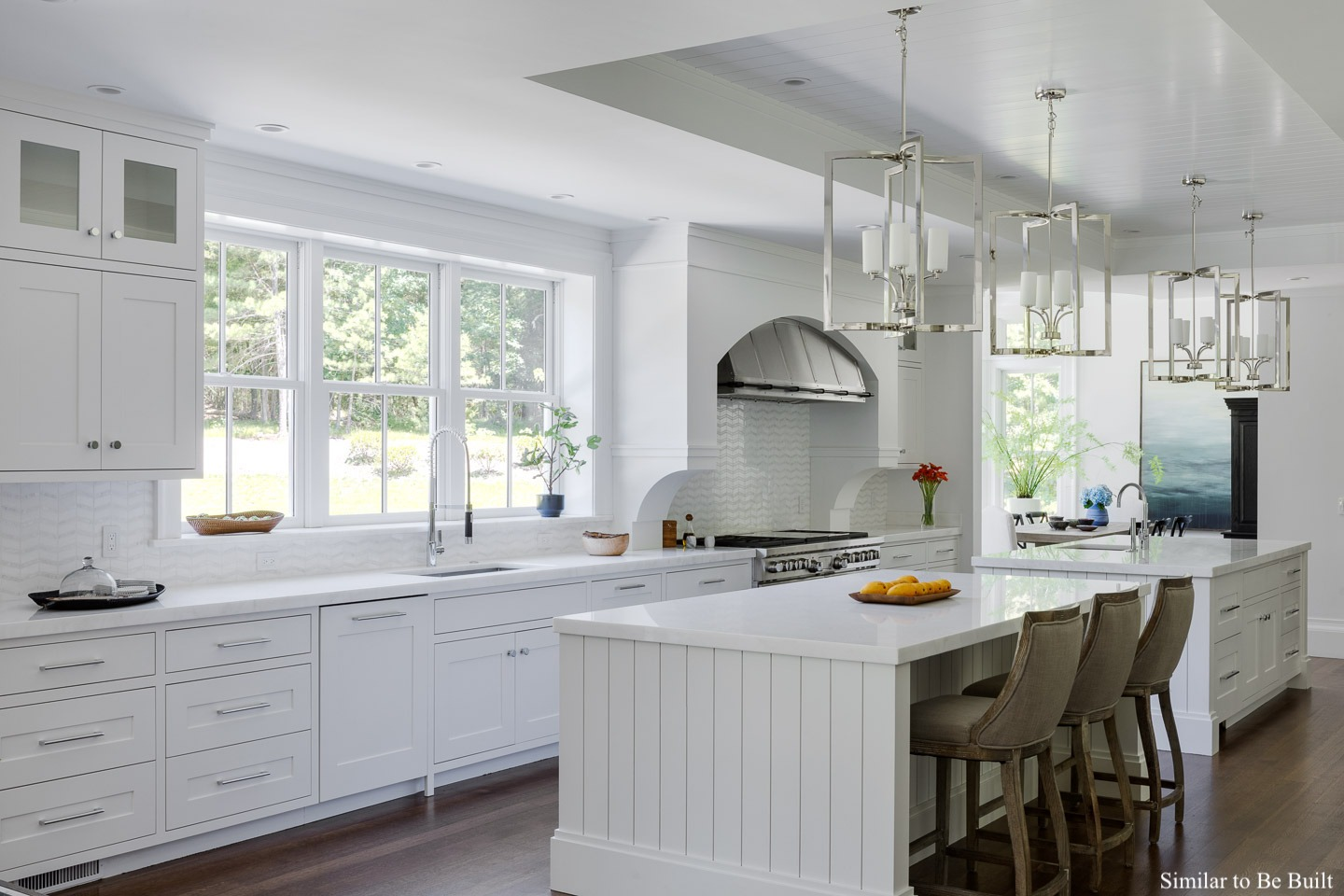 view of newly constructed white kitchen